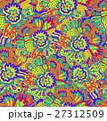 Vector flower pattern. Seamless botanic texture. 27312509