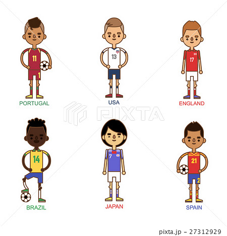 National Euro Cup soccer football teams vector 27312929