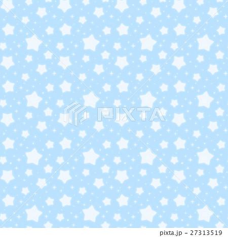 ファンシーでかわいい 星とキラキラの幻想的なパステルカラーシームレスパターン 水色 27313519