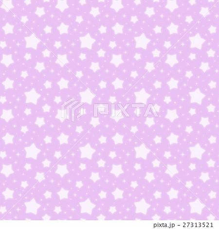ファンシーでかわいい 星とキラキラの幻想的なパステルカラーシームレスパターン 紫色 27313521