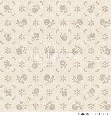 薔薇パターン背景,連続模様,ベージュ1のイラスト素材 [27318524