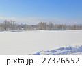 冬 積雪 雪原の写真 27326552