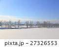 冬 積雪 雪原の写真 27326553