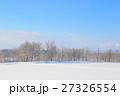 冬 積雪 雪原の写真 27326554