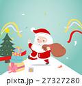 Santa claus with gift box. 27327280