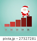 Santa walking up on businessgraph. 27327281