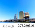 隅田川テラスから東京スカイツリー、区役所、アサヒビール本社を望む 27329619