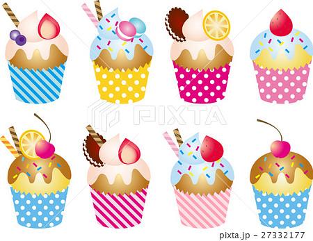 スイーツ カップケーキのイラスト素材 27332177 Pixta