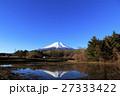 冬 青空 富士山の写真 27333422