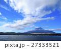 秋晴れ 富士山 山中湖の写真 27333521