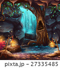 Vector cartoon illustration of a magical waterfall 27335485
