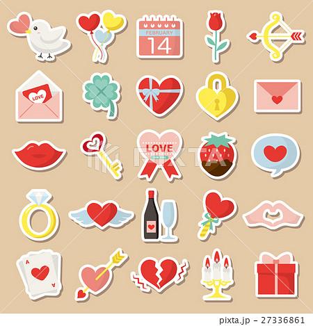 バレンタイン カラフルアイコンセット 27336861