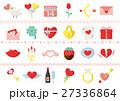 バレンタイン カラフルアイコンセット 27336864