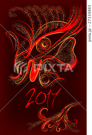 Colorful vivid cock in abstract style 27339865