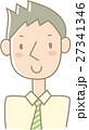 ネクタイをしめた若い男性(緑ストライプ) 27341346