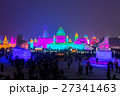 Ice buildings in the ice and Snow Festival harbin 27341463