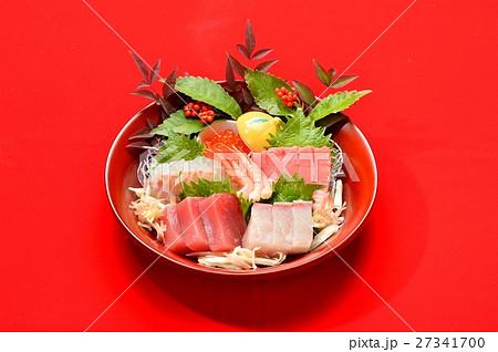 お正月料理、正月風お刺身、刺し盛り料理、おせち料理。 27341700