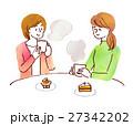 人物 女性 カフェ 27342202