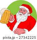 サンタクロース クリスマス ビールのイラスト 27342225