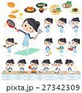 school girl Sailor suit cooking 27342309
