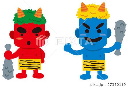 節分 赤鬼と青鬼のイメージイラストのイラスト素材 27350119 Pixta