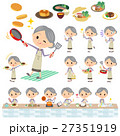 女性 シニア おばあさんのイラスト 27351919
