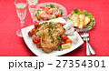 クリスマスディナー クリスマス料理 ローストチキンの写真 27354301