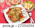 クリスマスディナー クリスマス料理 ローストチキンの写真 27354304