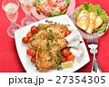 クリスマスディナー クリスマス料理 ローストチキンの写真 27354305