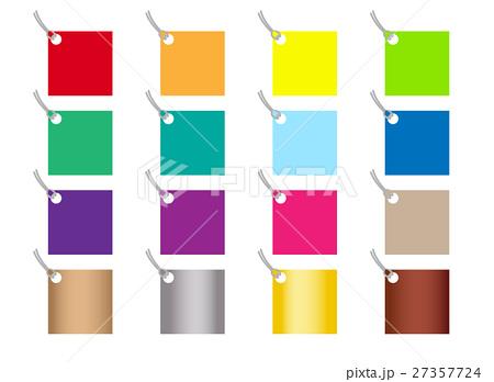 カラーラベルの装飾素材のイラスト素材 [27357724] - PIXTA