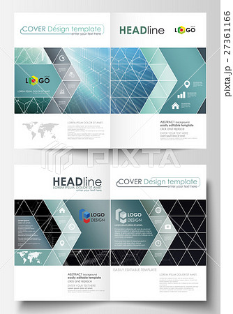 templates for bi fold brochure magazine flyer orのイラスト素材