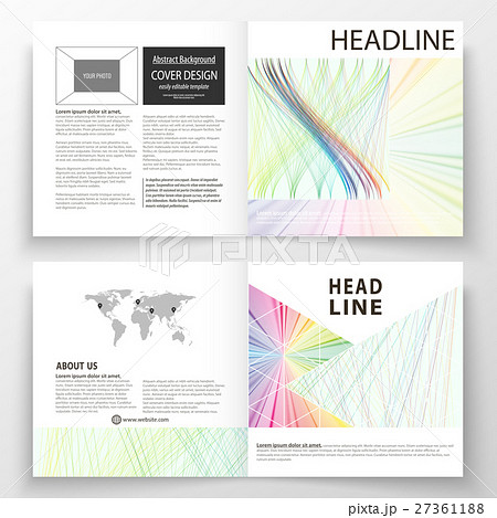 business templates for square bi fold brochureのイラスト素材