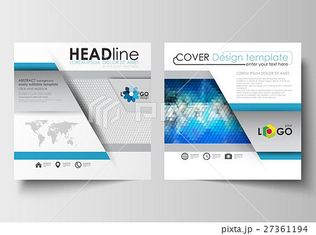 business templates for square design brochureのイラスト素材