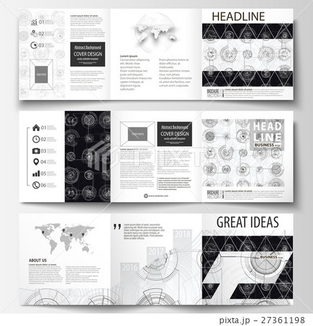 business templates for square tri fold brochuresのイラスト素材