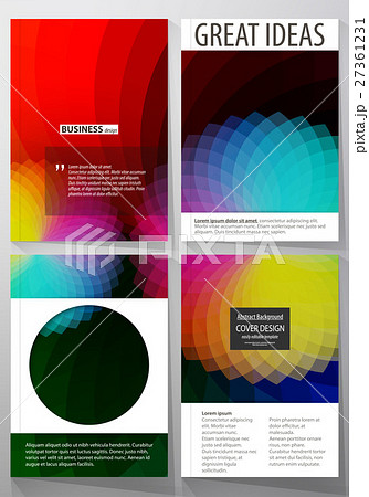 business templates for brochure flyer bookletのイラスト素材