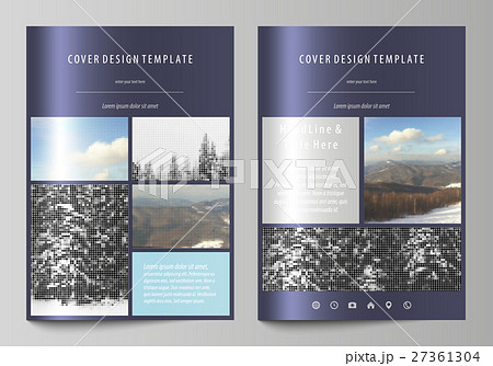 business templates for brochure magazine flyerのイラスト素材