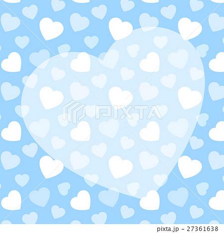 ハート柄背景とハートのかわいいコピースペース ブルー 正方形 ホワイトデー 27361638
