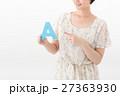 女性 人物 アルファベットの写真 27363930