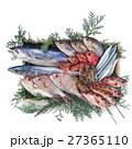 鮮魚集合 鮮魚 魚介類の写真 27365110