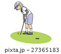 ゴルフするおばあさん 27365183