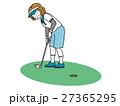 ゴルフするおばさま 27365295