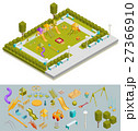 Colored Isometric Playground Composition 27366910