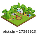 Hiking Isometric Composition 27366925