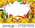縁起物 門松 鏡餅のイラスト 27367059