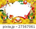 縁起物 門松 鏡餅のイラスト 27367061
