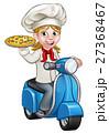シェフ 料理人 配達のイラスト 27368467