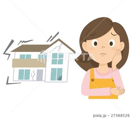 お母さん 地震 イラスト 27368526