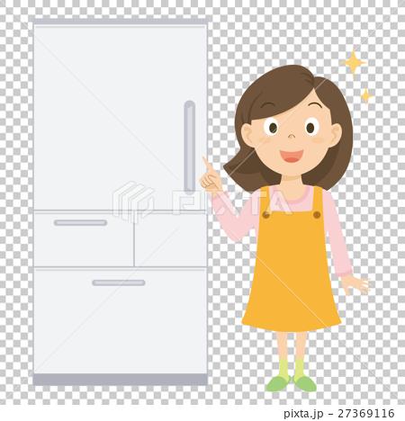 お母さん 冷蔵庫 イラスト 27369116