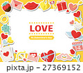 バレンタイン バレンタインデー フレームのイラスト 27369152