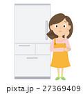 冷蔵庫 女性 困るのイラスト 27369409